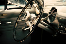 Classic Car Dashboard, Old Vintage Vehicle