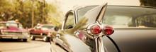 Classic Car Street Display, Vintage Vehicles Show