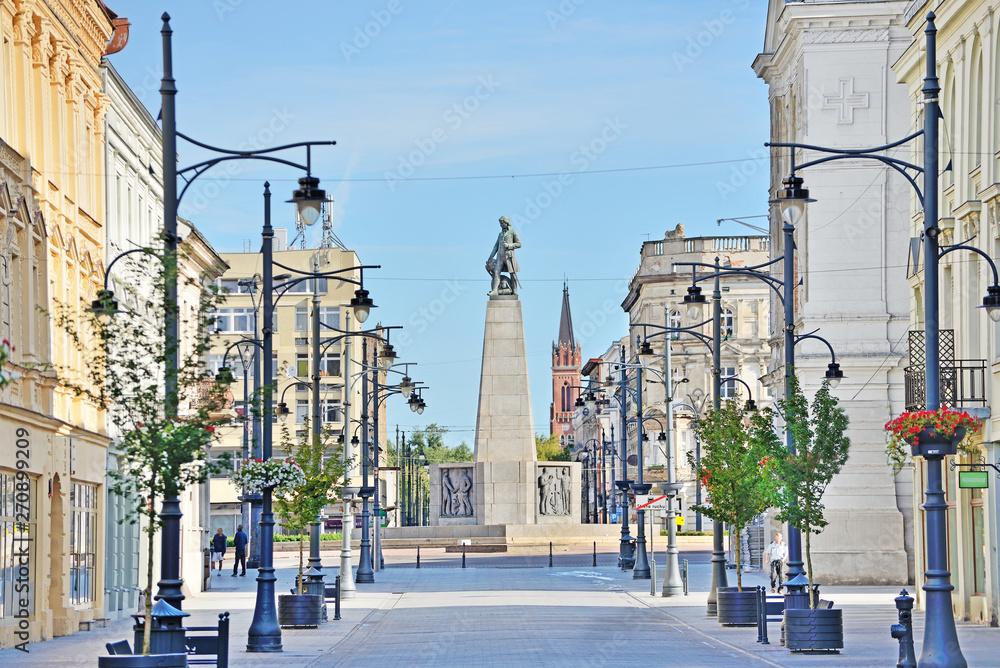 Fototapety, obrazy: Łódź - widok na Plac Wolności