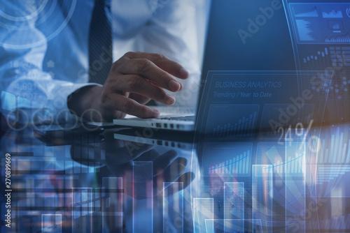 Fototapeta Business and digital technology obraz na płótnie