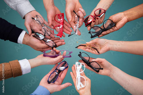 Group Of Peoples Showing Variety Of Spectacles Fototapeta
