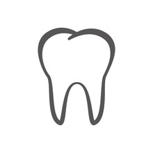 Outline Tooth Icon Vector Illu...