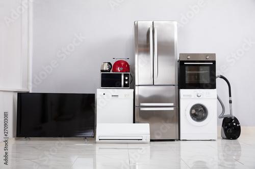 Fotografía  Modern Appliances In New Kitchen Apartment
