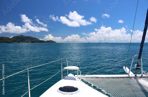 Photo vue d'un catamaran de l'Océan Indien (Seychelles)