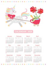 Cute Calendar For 2020 Year Wi...