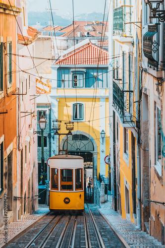 Obraz Elevador da Bica, Lisbon, Portugal, Europe - fototapety do salonu