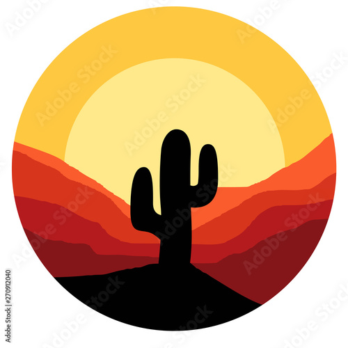 cactus vector graphic design Fototapeta