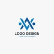 Letter AV logo design vector. Technology logo design.