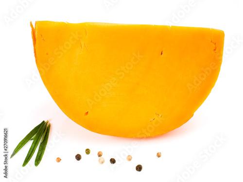 Valokuvatapetti quartier de mimolette en gros plan