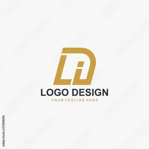 Photo Letter LI logo design vector. Abstract font logo design.