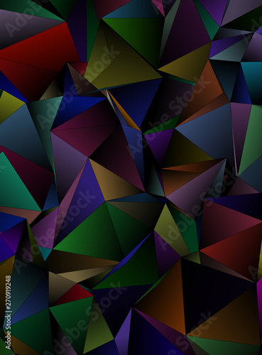 Fototapety, obrazy: Abstract Low-Poly background. triangulated texture. Design 3d. Polygonal geometrical pattern. Triangular modern style