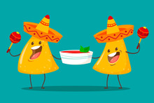 Funny Characters Nachos With T...