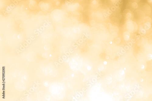 Fototapeta abstract golden background with light bokeh effect obraz na płótnie