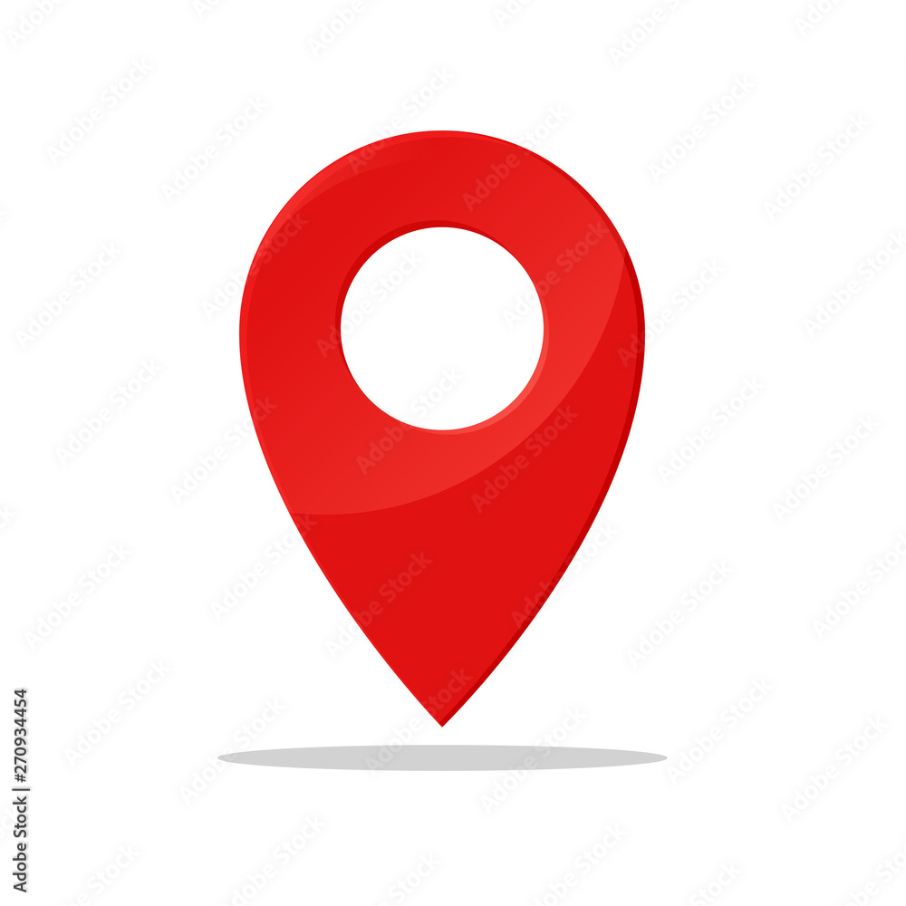Fototapeta Pin symbol Indicates the location of the GPS map.
