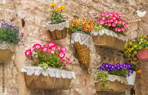 Spello: antico borgo fiorito in Umbria Wallpaper Mural