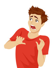 Teen Guy Shock Expression Illu...