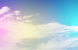 Clouds and sky in the daytime with a pastel background