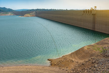 The Very Low Water Level Above The Dam Due To A Shortage Of Water From Abnormally Rainfall
