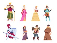 Medieval Characters. Flat Hist...