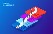 Vector Isometric Stairs With P...