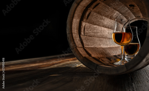 Fotografija professional glasses for distillates - whiskey, brandy, Calvados