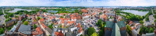 Panorama Stralsund view from above - 360
