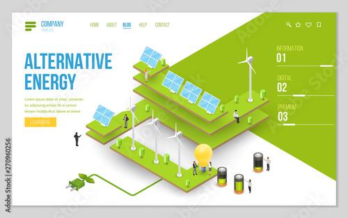 Minimal modern concept of alternative ecology energy source Canvas Print