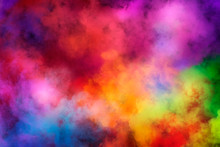 Abstract Clouds Of Color Smoke...