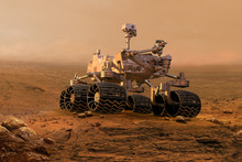 Mars Rover Exploring Surface O...