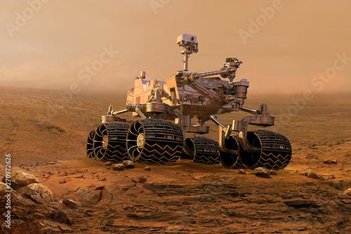 Fotografía  Mars rover exploring surface of Mars