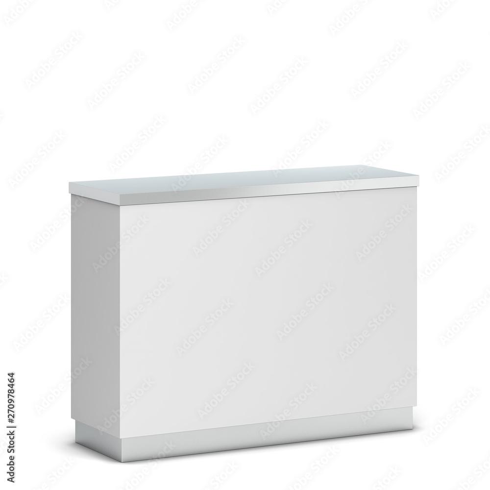 Fototapeta Blank counter stand mockup