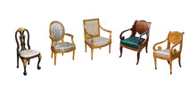 Luxury Vintage Chairs On White Isolated Background