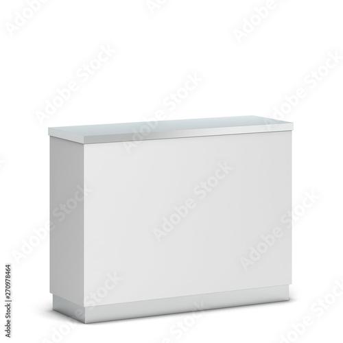 Fotografia, Obraz Blank counter stand mockup