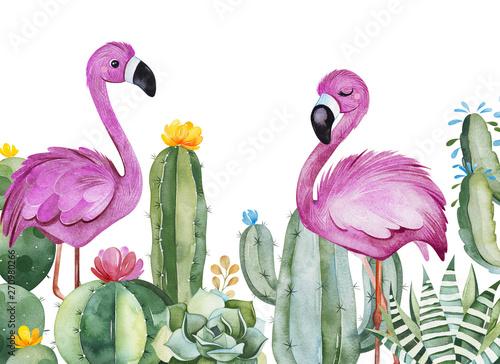 zaproszenie-na-przyjecie-z-zielonym-akwarelowym-kaktusem-sukulentami-kwiatami-i-rozowymi-flamingami-karta-urodzinowa-idealny-dla-twojego