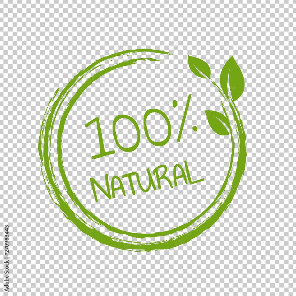 Fototapeta 100% Natural Product Transparent Background