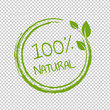 100% Natural Product Transparent Background