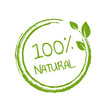 100% Natural Product White Background