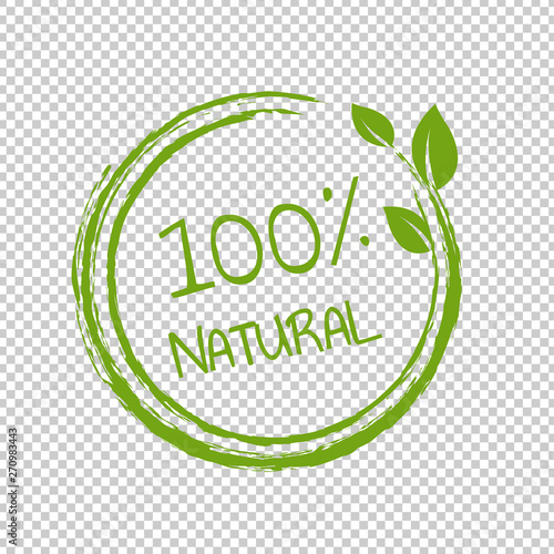 Fototapeta 100% Natural Product Transparent Background obraz