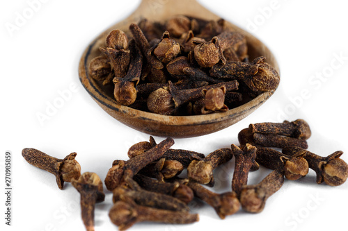 Keuken foto achterwand Koffiebonen dry spice cloves