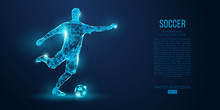 Abstract Soccer Player, Footba...