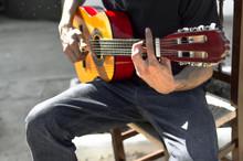 Young Flamenco Guitarist Playi...