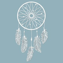 Dream Catcher With Feathers, L...
