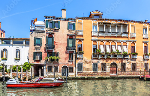 Old Houses On Grand Canal Venice Italy Vintage Hotels Or