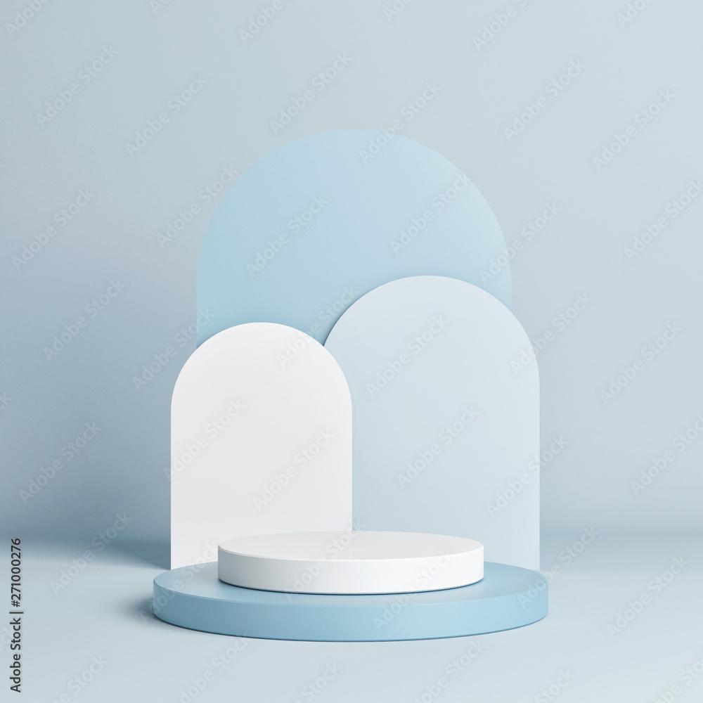 Fototapety, obrazy: Abstract geometric mock up podium, 3d illustration