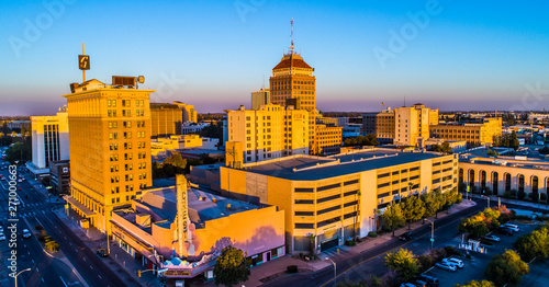 Aerial, Historic Downtown Fresno, California - 271000663