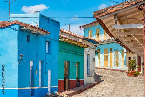 Colonial architecture buildings in Sancti Spiritus city, Cuba Slika na platnu