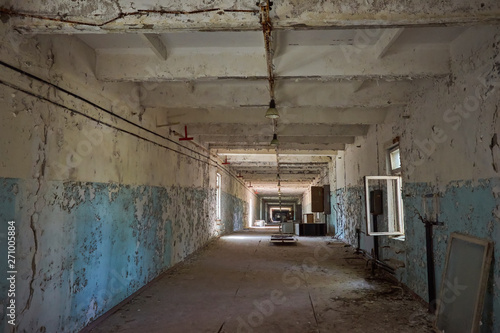 Destroyed command post of the secret military facility of the USSR's airborne radar system Canvas Print