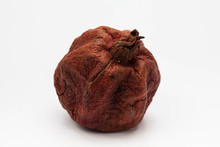 Dried Pomegranate On White Bac...