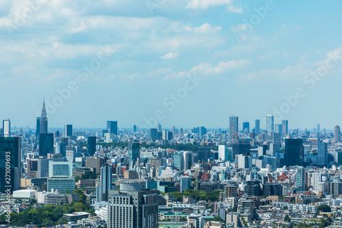 Foto op Aluminium Tokyo (東京都-都市風景)高層ビルラウンジから望む青山方面の風景