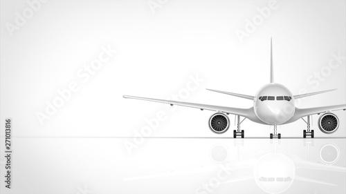 Fototapeta  飛行機 正面 右